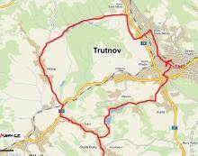 Mapa cyklovýletu Za domem ze slámy do Starých Buků