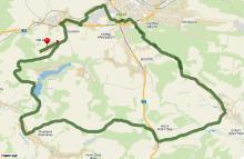 Mapa cyklovýletu Za domácími produkty na farmu do Oblanova